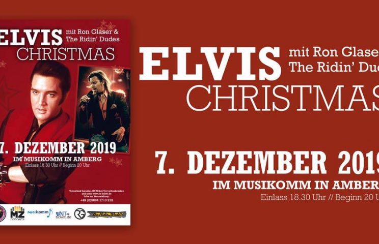 """Rockin Christmas"" Ron Glaser is back  –  Amberg 7.12.2019 mit neuem Programm!"